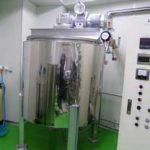 化粧品工場向け調合タンク設置工事事例