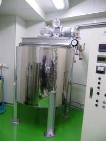 化粧品工場向け調合タンク設置工事事例 001-photo