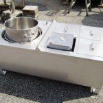 ステンレスタンク・1斗缶湯煎槽(蒸気式)