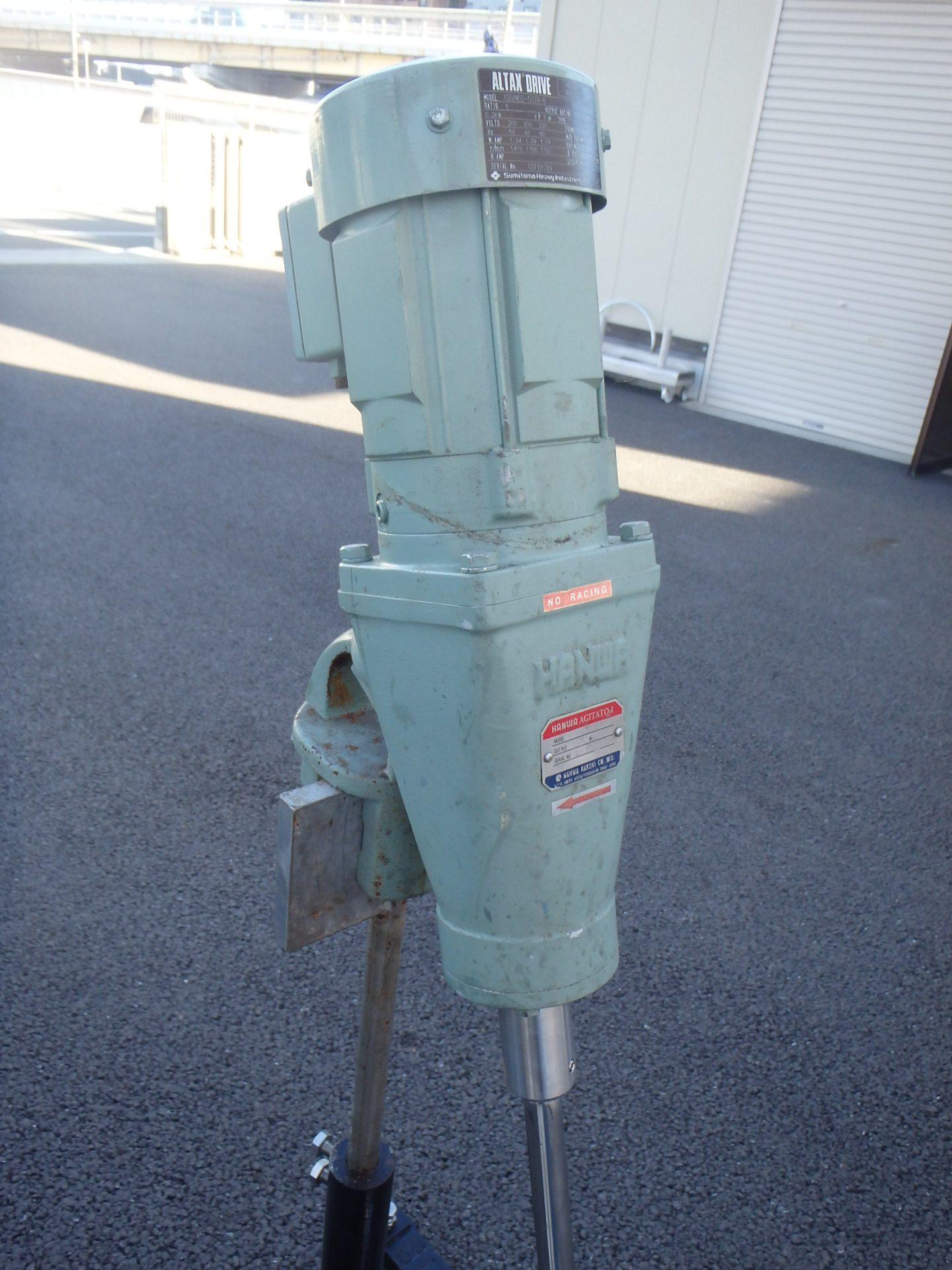 【中古】0.2kw阪和化工機製撹拌機・架台 002-photo
